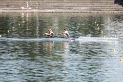 Спортсмены Дании на rowing конкуренции чашки мира гребя Стоковая Фотография
