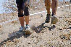 Спортсмены марафона идущие весьма Стоковые Фото