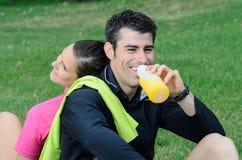 спортсмены счастливые Стоковые Изображения RF