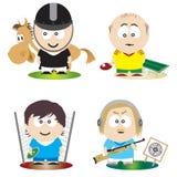 спортсмены Стоковые Фотографии RF