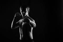 Спортсмены Kung Fu делают kata Стоковые Фото