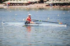 Спортсмен Бельгии на rowing конкуренции чашки мира гребя Стоковая Фотография RF