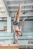 Спортсмен во время трудной тренировки, гимнастики спорт Стоковое Изображение