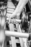 Спортсмен в спортзале стоковое фото rf