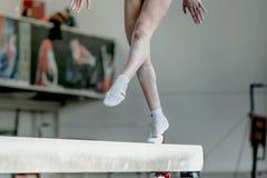 Спортсмен гимнаста девушки Стоковая Фотография