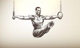 Спортсмен | Кольца Стоковые Фото
