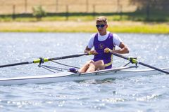 Спортсмен на конкуренции rowing Стоковые Изображения