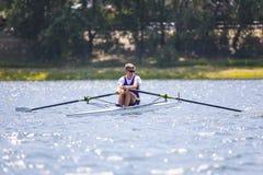 Спортсмен на конкуренции rowing Стоковые Фото