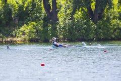 Спортсмен на конкуренции rowing Стоковые Изображения RF