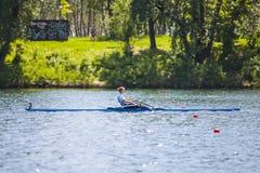 Спортсмен на конкуренции rowing Стоковое Фото