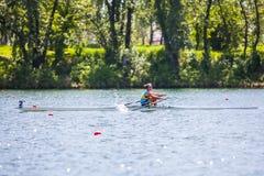 Спортсмен на конкуренции rowing Стоковое Изображение