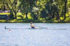 Спортсмен на конкуренции rowing Стоковое фото RF