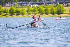 Спортсмен на конкуренции rowing Стоковые Фотографии RF