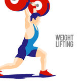 Спортсмен поднятия тяжестей Стоковое Изображение