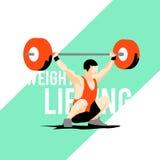 Спортсмен поднятия тяжестей Стоковые Фото