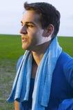 Спортсмен смотря к стороне Стоковое фото RF