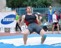 спортсмен состязается свод полюса Стоковые Фотографии RF