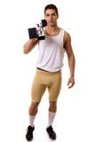 Спортсмен с начиная блоком Стоковые Изображения RF