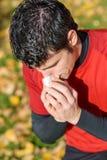Спортсмен с холодом Стоковые Изображения RF