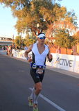 Спортсмен триатлона Ironman: марафон Стоковое фото RF