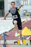 Спортсмен тройного прыжка Стоковые Фото