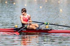 Спортсмен Швейцарии на rowing конкуренции чашки мира гребя Стоковое фото RF