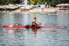 Спортсмен Швейцарии на rowing конкуренции чашки мира гребя Стоковое Изображение RF