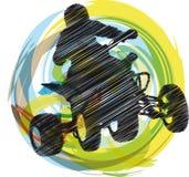 спортсмен riding квада bike Стоковая Фотография