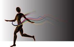 спортсмен runninging иллюстрация штока