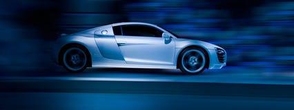 спорты автомобиля серебряные Стоковая Фотография
