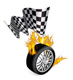 спорты гонки эмблем Стоковое Фото