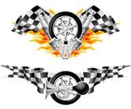 спорты гонки эмблем Стоковые Изображения