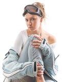 спорты девушки сексуальные одевают зима Стоковое Изображение