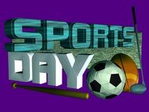 спорты дня иллюстрация вектора