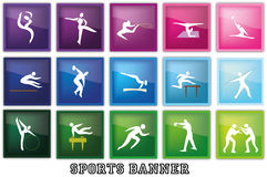 спорты знамени Стоковые Фото