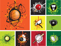 спорты иконы grunge бесплатная иллюстрация