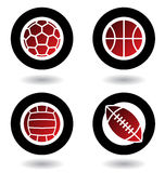 спорты икон шариков Стоковое Изображение