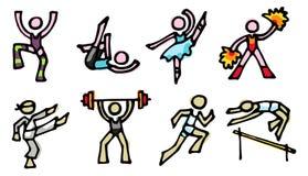 спорты икон Стоковое Изображение RF