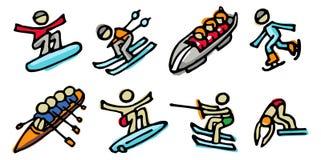 спорты икон Стоковая Фотография