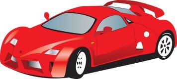 спорты красного цвета автомобиля Стоковое Изображение