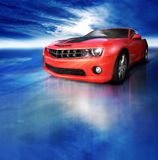 спорты красного цвета автомобиля Стоковые Фотографии RF