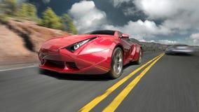 спорты красного цвета автомобиля бесплатная иллюстрация