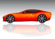 спорты красного цвета автомобиля Стоковые Изображения RF