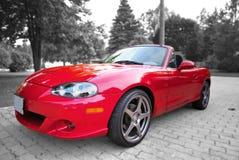 спорты красного цвета автомобиля Стоковые Фото