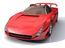 спорты красного цвета модели автомобиля 3d Стоковые Фото