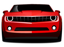 спорты красного цвета chevrolet автомобиля camaro иллюстрация штока