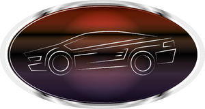 спорты логоса ярлыка автомобиля Стоковые Фотографии RF