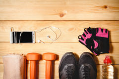 спорты оборудования установленные Стоковое Изображение