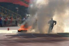 Спорты пожара, пожарный Стоковые Изображения RF