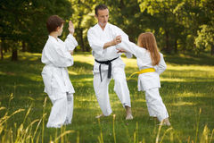 спорты семьи Стоковое фото RF